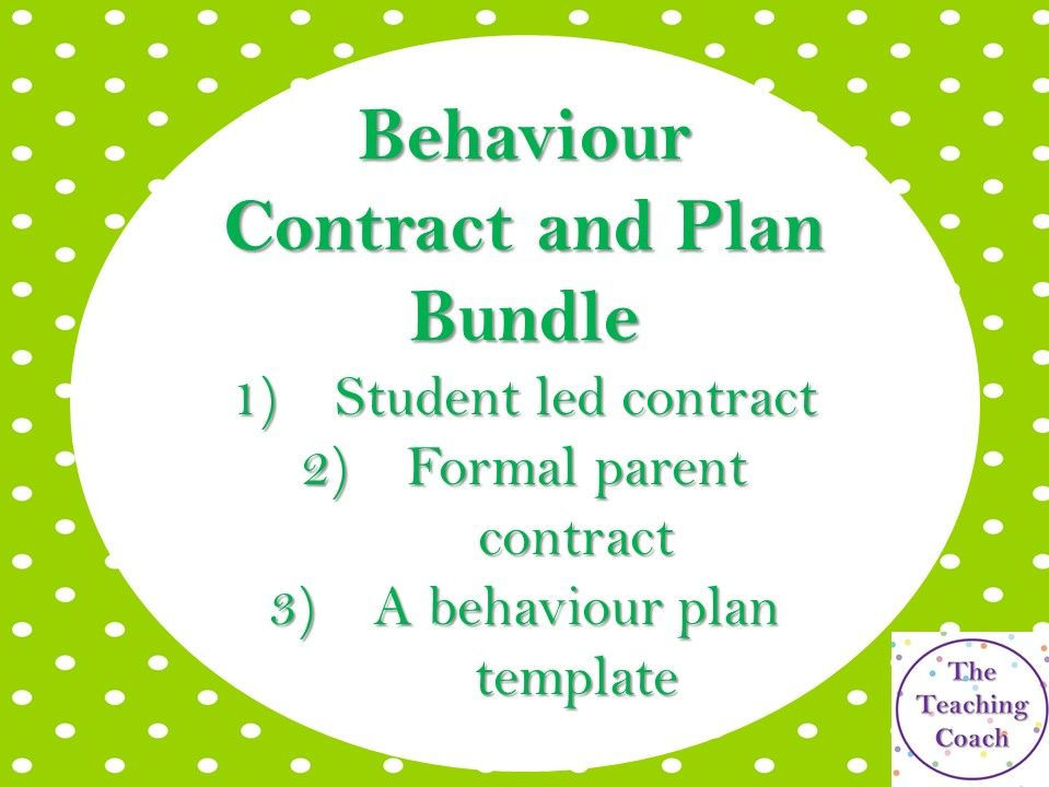 Behaviour Contract Bundle | Improving Monitoring | Head of Year and Pastoral Leaders