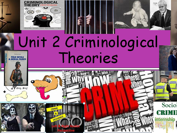 Unit 2 Criminological Theories EXAM UNIT (New Spec)  WHOLE UNIT BUNDLE