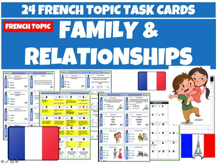 Family and Relationships MFL French