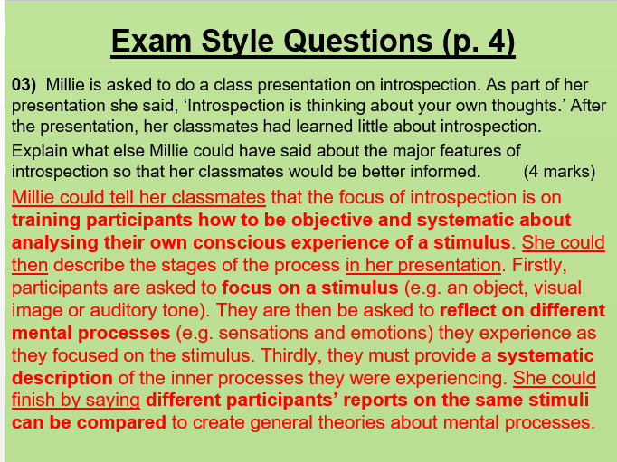 Approaches in Psychology PowerPoint (to accompany booklet)