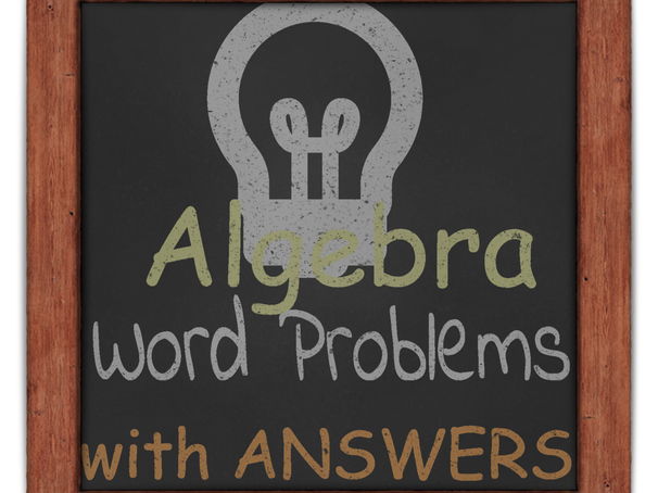 Algebra - Word Problems Functional Skills L2 GCSE (with answers)