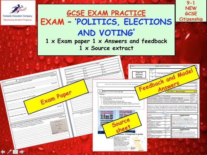 GCSE CITIZENSHIP 9-1 POLITICS EXAM ASSESSMENT