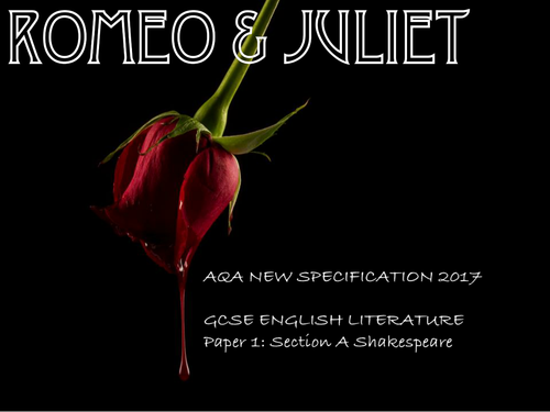 Romeo and Juliet - Remote Learning SOW