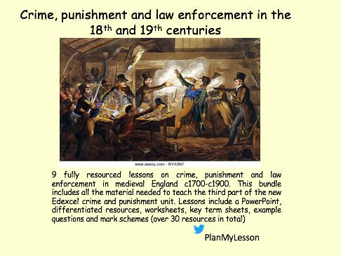 Edexcel GCSE 9-1 History Crime and Punishment c1700-1900