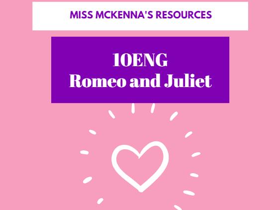 Y10 Romeo + Juliet Study