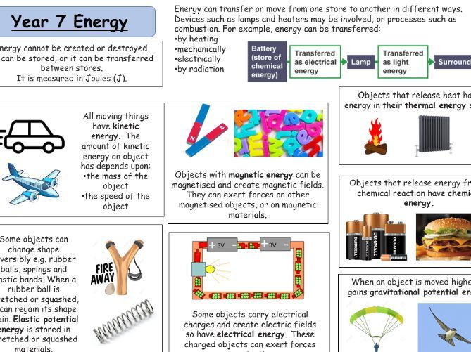 Year 7 Physics revision pack