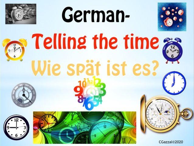 German – Telling the Time. Wie spät ist es?