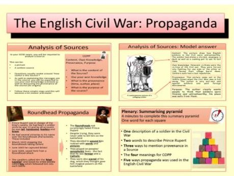 The English Civil War: The use of Propaganda