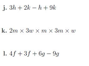 Simplifying algebraic expressions  worksheet (with solutions)