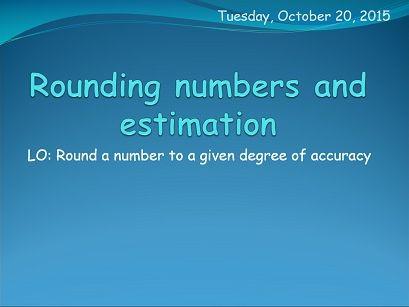 IB Applications and interpretations - Approximation: decimal places and significant figures