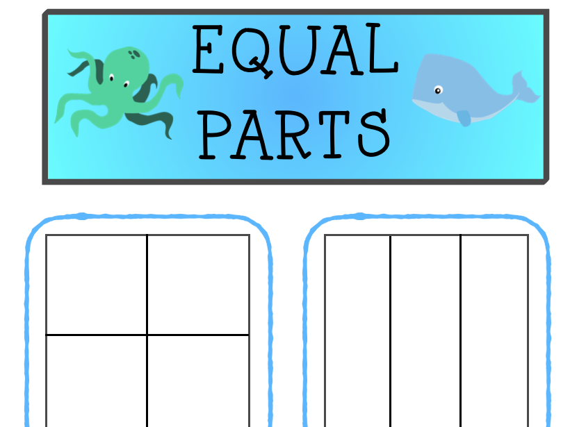 Equal and Unequal Fishy Fractions Sorting Activity