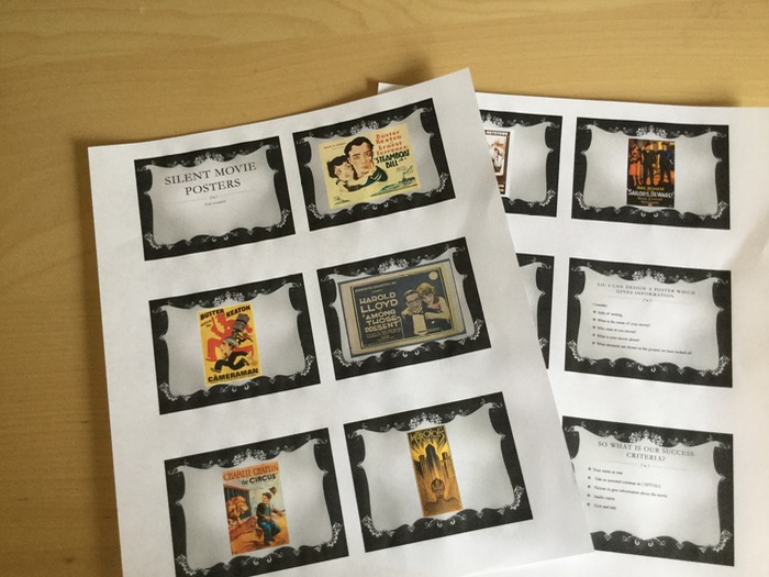 Design a Silent Movie Poster PowerPoint 1920s