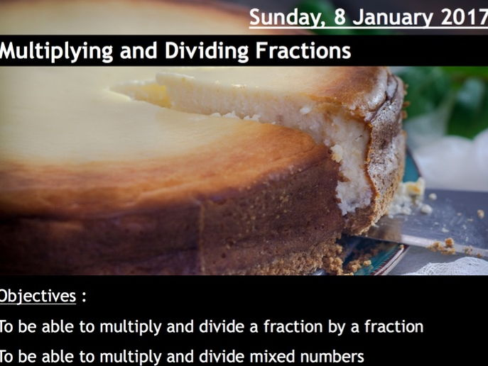 ProjectALesson: Multiplying and Dividing Fractions