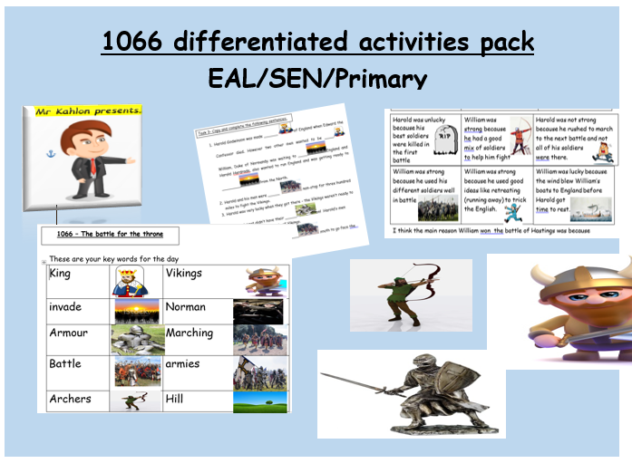 1066 differentiated activities pack EAL/SEN/Primary
