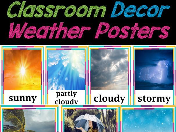 Weather Visual Cards for Calendar Time | Back to School Classroom Decor