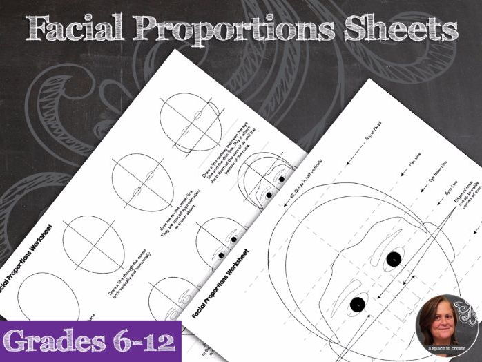 Facial Proportions Worksheets - How to Draw the Human Face