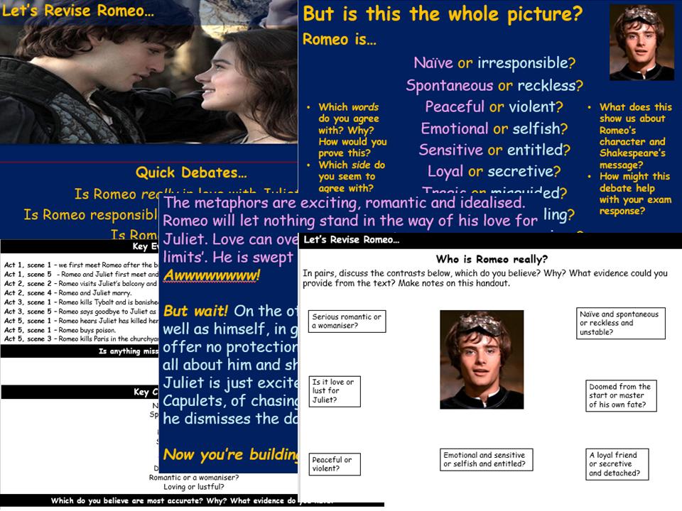 Romeo Revision Lesson - Romeo & Juliet