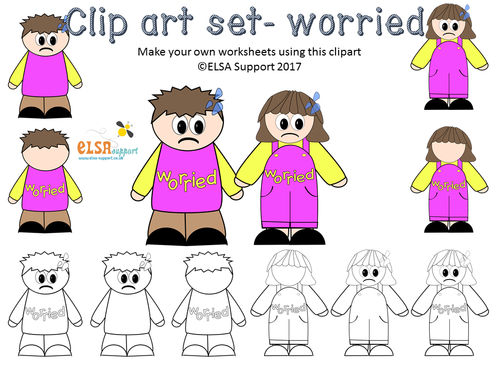 Emotions Clip art - Worried