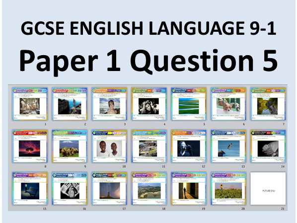 20 GCSE English Language Paper 1 Q5 Style Descriptive & Narrative Writing Questions with Pictures