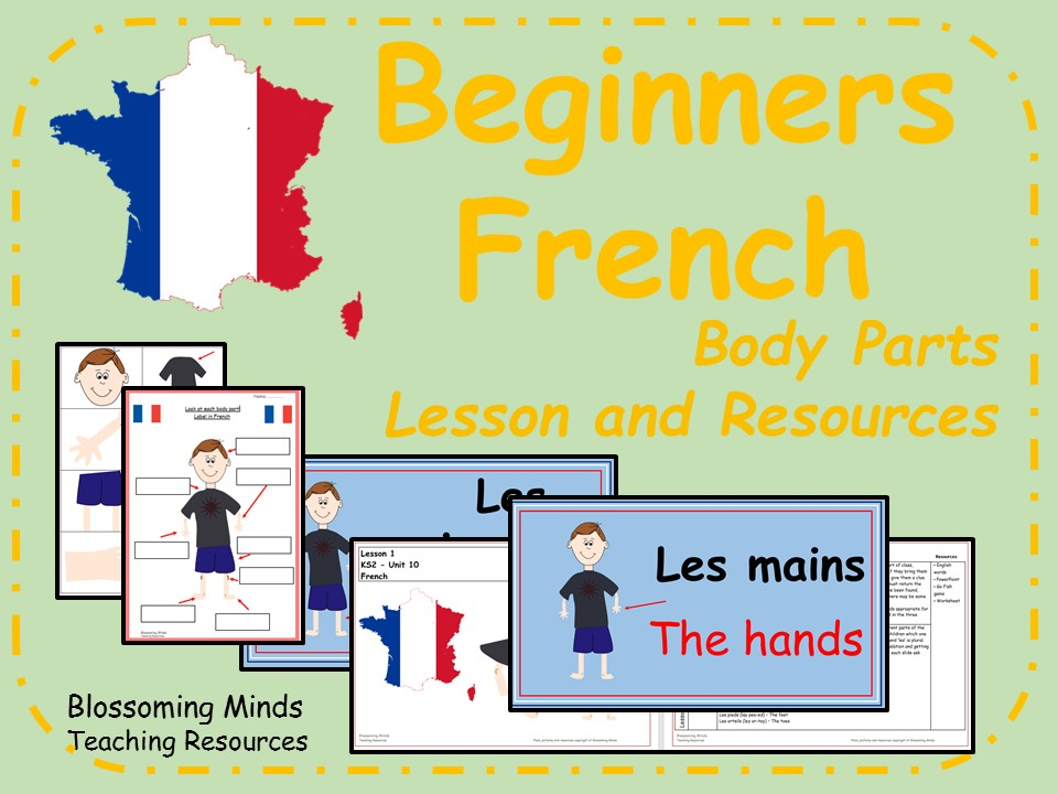 French lesson and resources - Body Parts - KS2