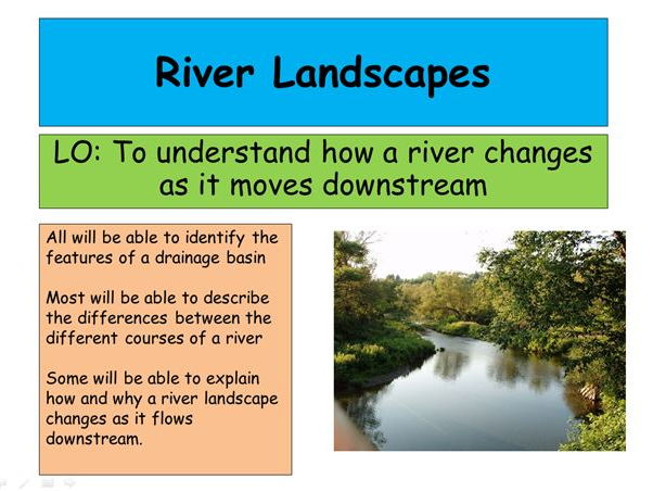 New AQA specification - River Landscapes: Full, differentiated SOW