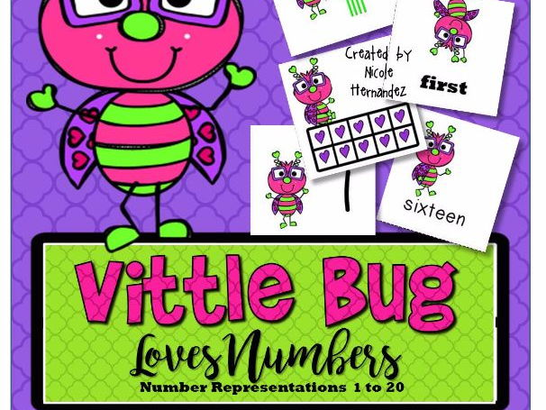 Valentines Day Number Representations - VITTLE BUG LOVES NUMBERS {1-20}