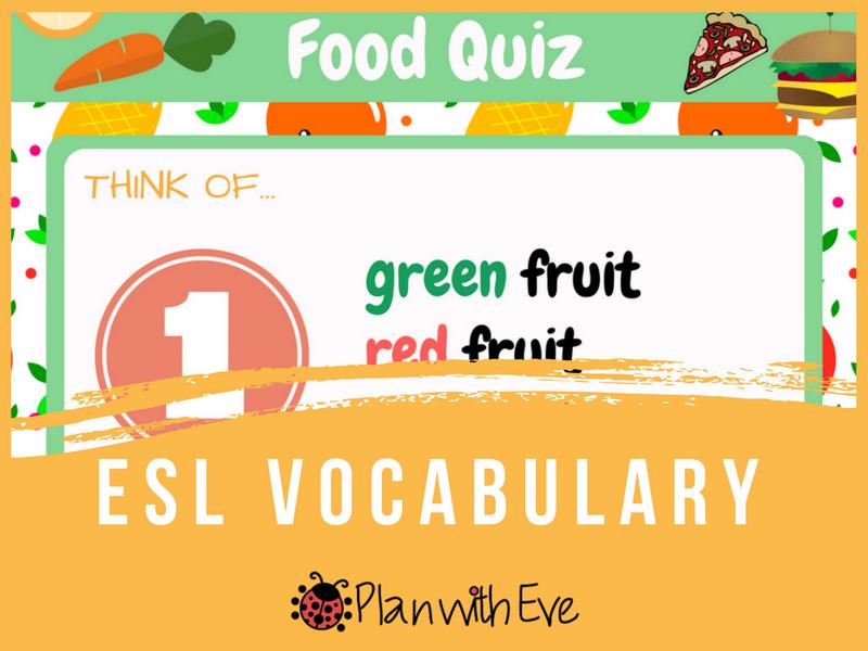 Food Quiz - ESL Vocabulary