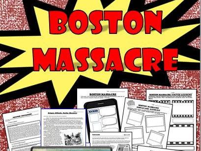 Boston Massacre, Primary Sources, Crispus Attucks, Many Lessons!