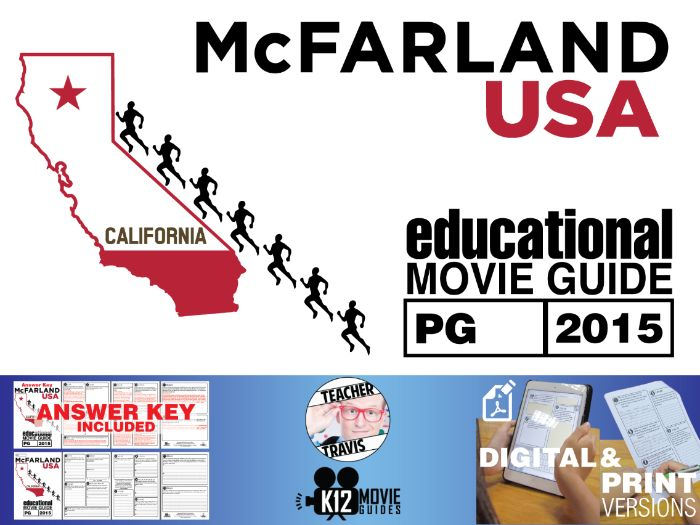 McFarland, USA Movie Guide | Questions | Worksheet (PG - 2015)