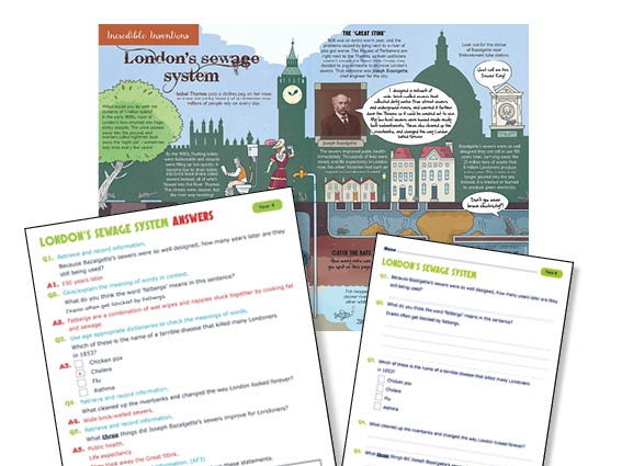Year 4 The invention of the London sewage system guided reading