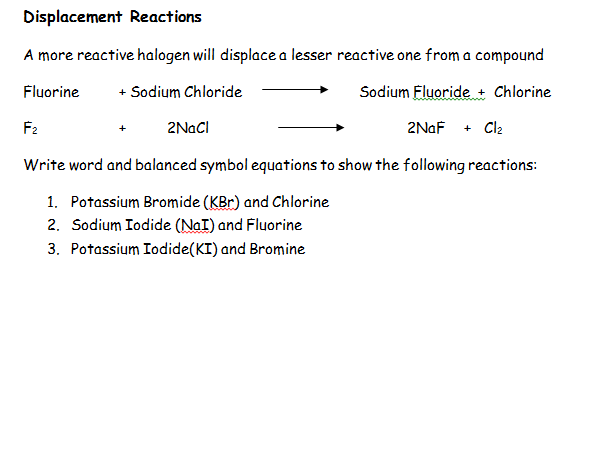 AQA Chemistry Topic 2: Equations Revision