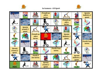 Sports in Italian Lumaca snail game