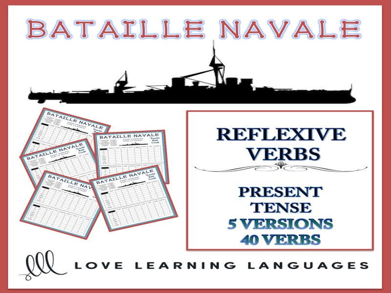 GCSE FRENCH: Bataille Navale - Reflexive Verbs - Present Tense
