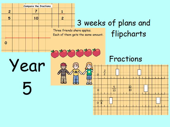 Year 5 Fractions Mastery 3 Weeks planning