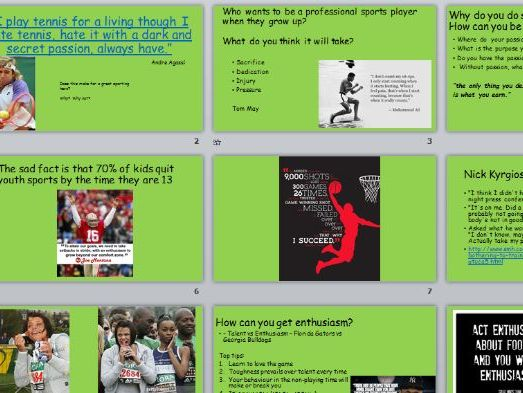 Enthusiasm in Sport Assembly Powerpoint
