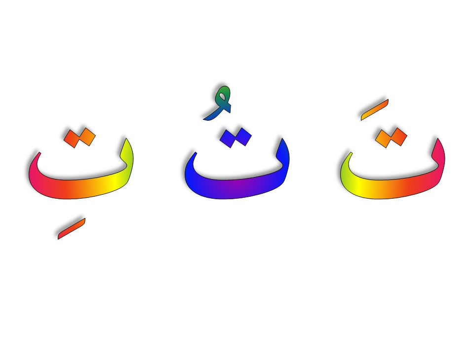 Arabic letter shapes flashcards