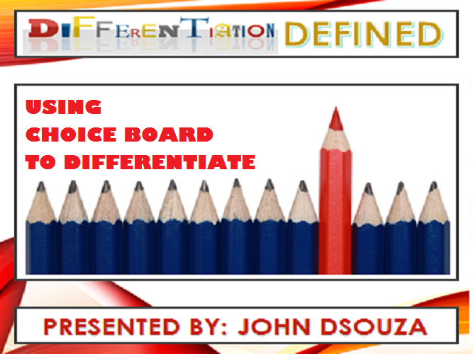 DIFFERENTIATION: WHAT, WHY & HOW