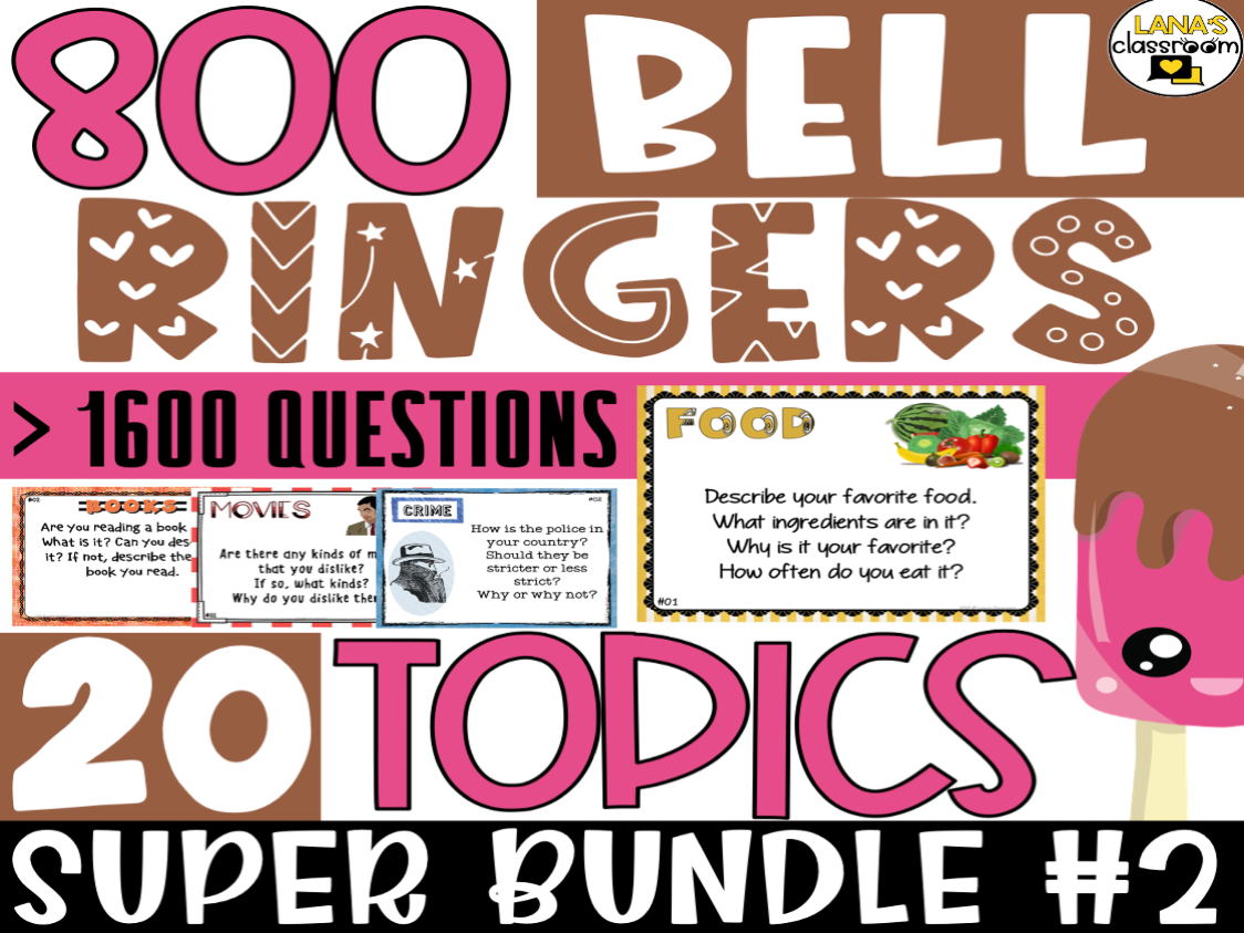 Bell Ringers Questions | SUPER BUNDLE #2 | Middle and High School