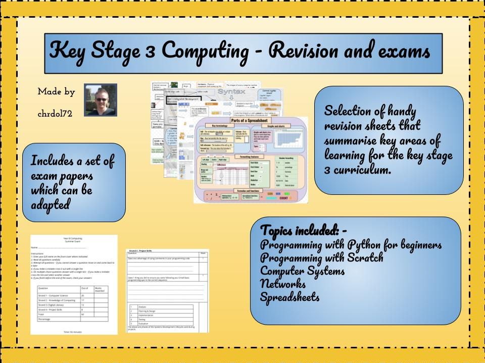 Computing - Revision & exams  (Key Stage 3)
