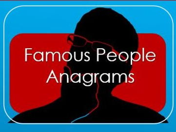 2017: Quiz: Celebrity Anagrams
