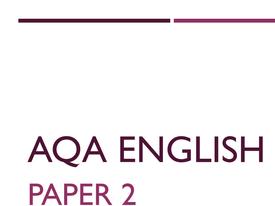 AQA 8700 English Language - MOCK PAPER 2, child labour
