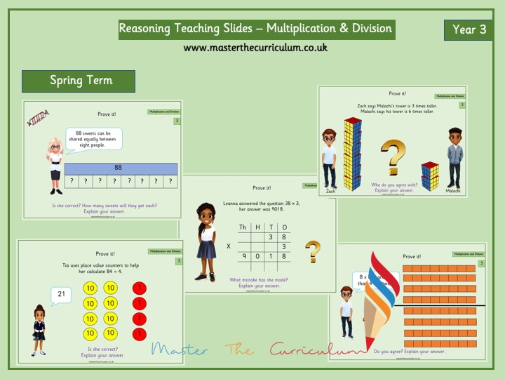 Year 3- Spring Term – Reasoning Multiplication & Division Slides- White Rose Style