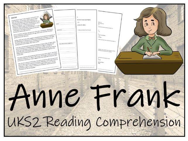 UKS2 Anne Frank Reading Comprehension Activity