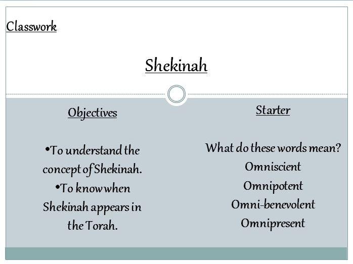 Judaism: Shekinah