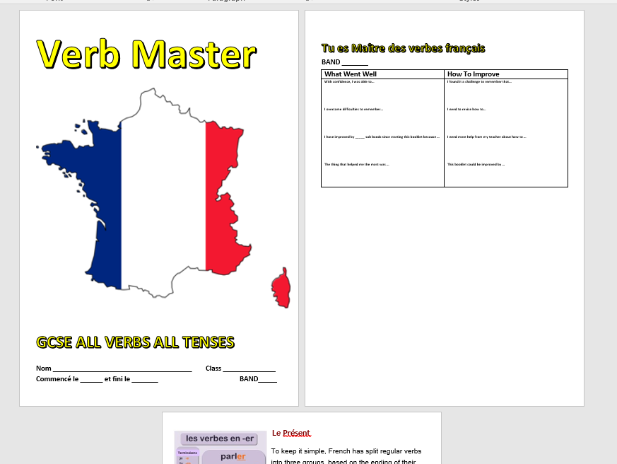 French Verb Master GCSE 1-9 (6 Tenses)