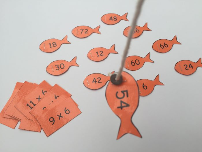 Times Tables Magnetic Fishing Games 2x to 10x
