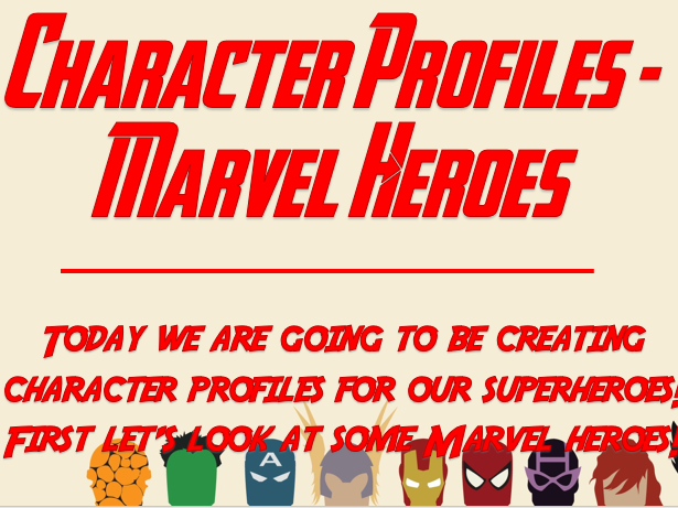 Character Profiles - Marvel Heroes