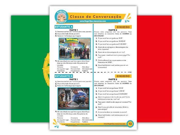 Dinheiro - Portuguese Speaking Activity