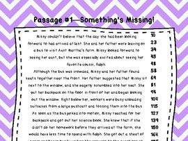 5th Grade Fluency Passages with Comprehension Questions FREEBIE