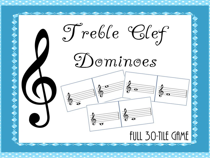 Treble Clef Dominoes